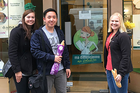 Dietetic interns in Paris