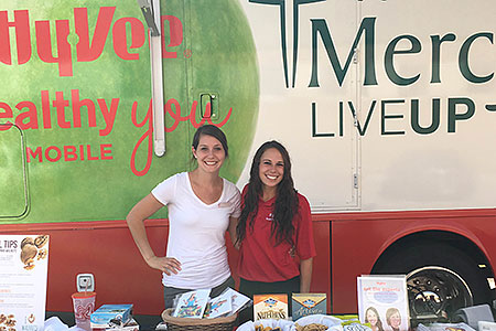 Iowa location interns with HyVee and Mercy Clinics