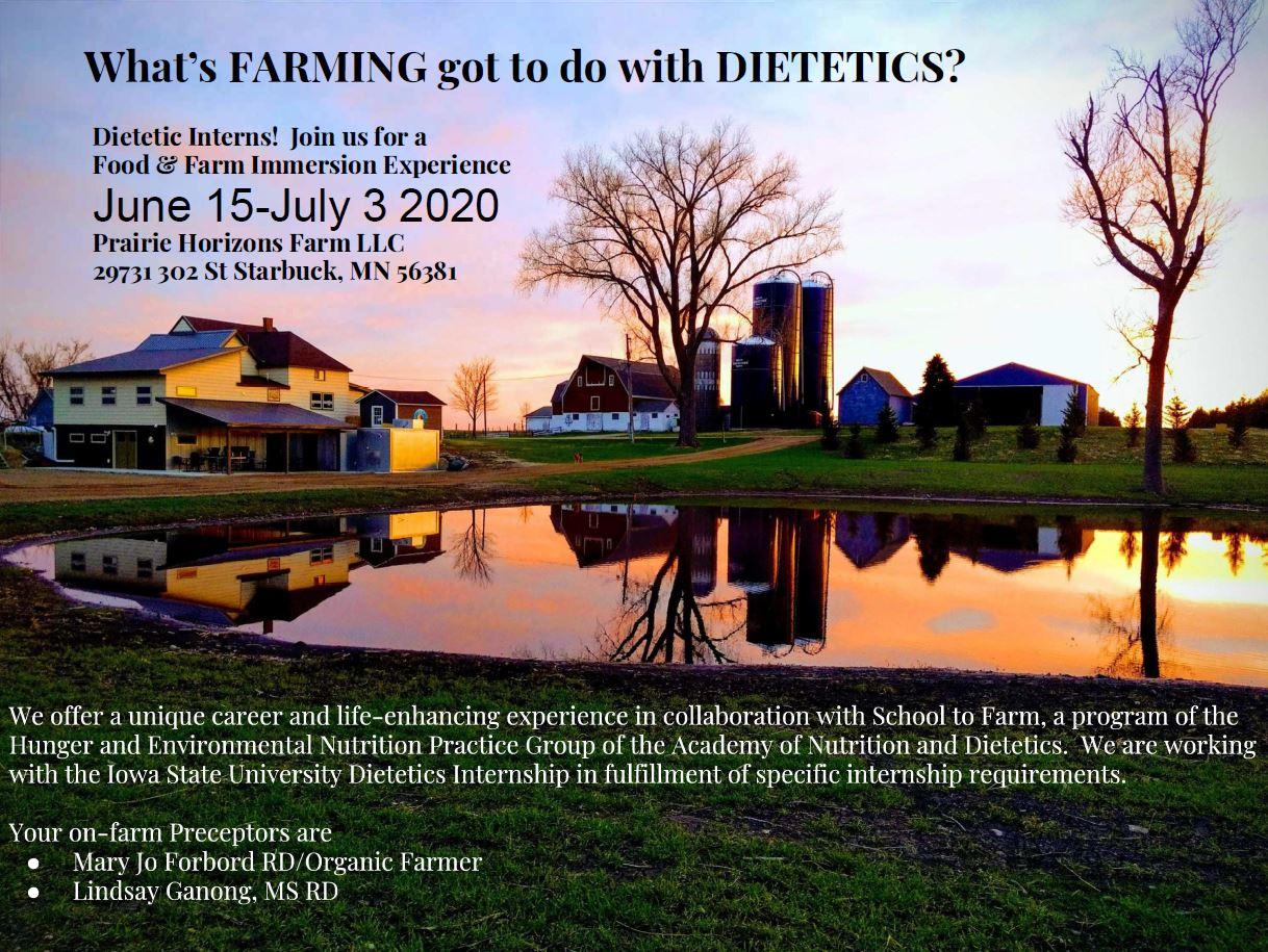 Prairie Horizons opportunity 2020 dates